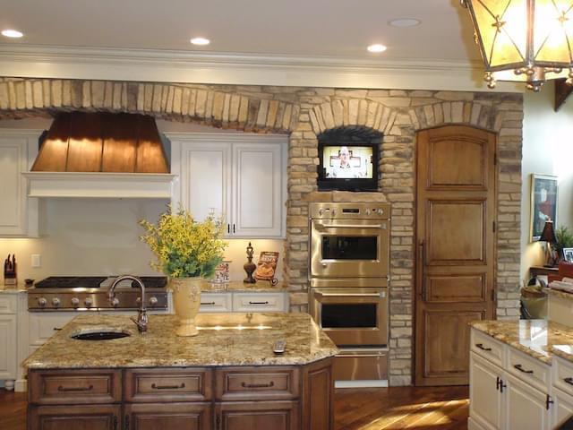 osage ledgestone kitchen by provia
